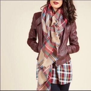 Modcloth Loch and Key Scarf in Forest Plaid